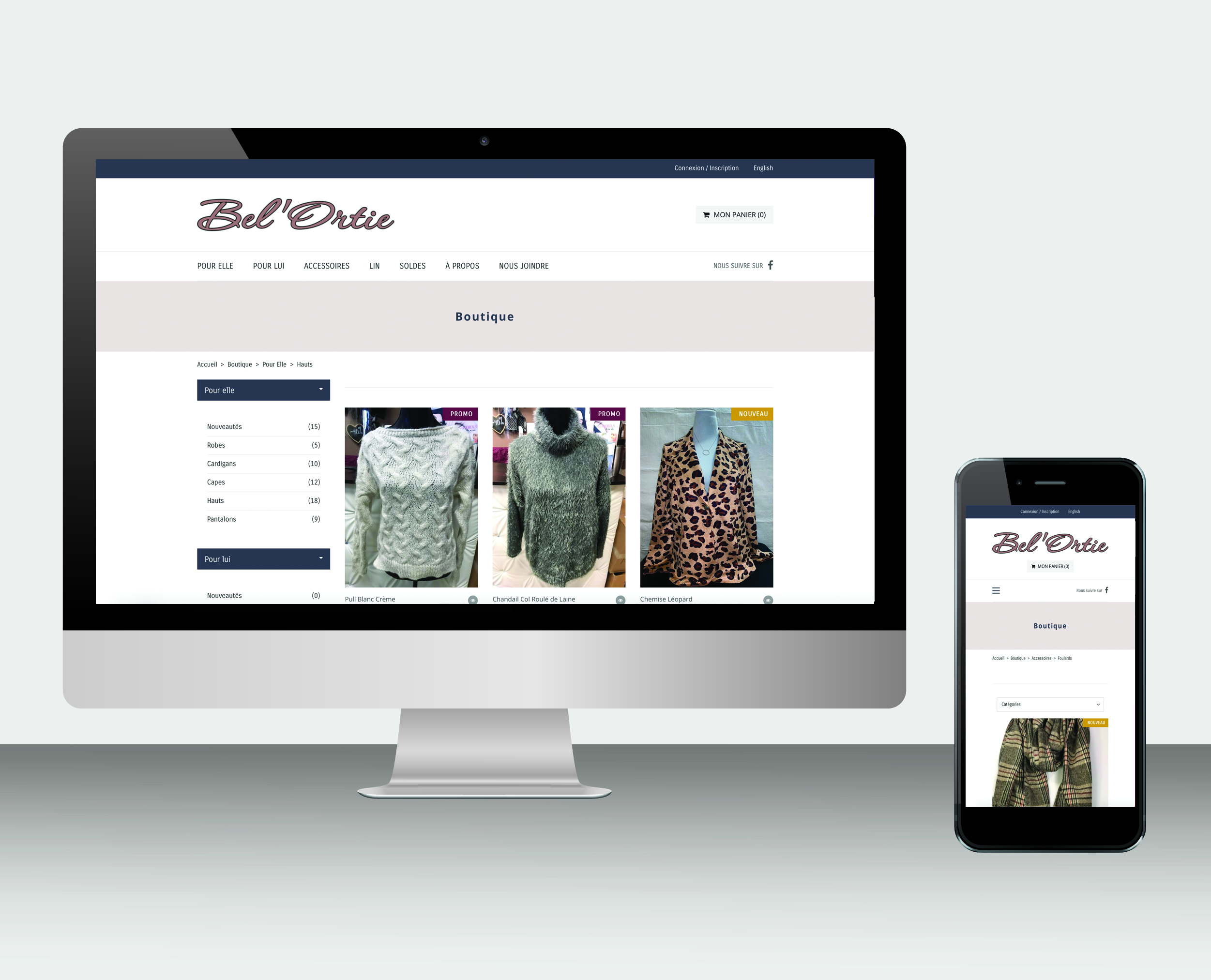 Site web Boutique Bel'Ortie